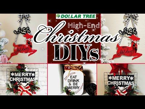 DOLLAR TREE CHRISTMAS DECORATIONS & IDEAS FOR 2020   FRIEND FRIDAY HOP 🎄