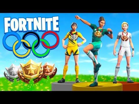 The OLYMPICS In Fortnite Battle Royale! (видео)