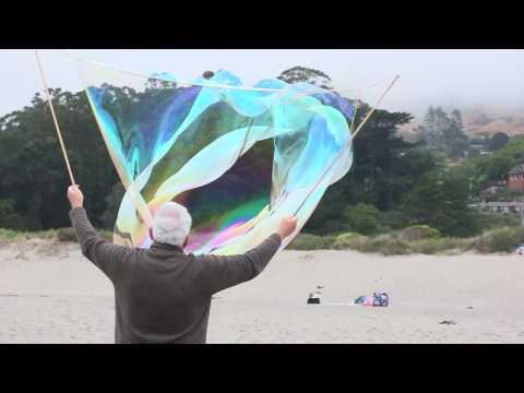 Giant Slowmo Beach Bubbles