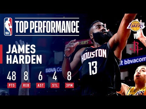 Video: Harden Continues His Scorching Play With HUGE Performance vs Lakers | January 19, 2019
