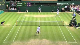 2011 Wimbledon   Federer Vs Tsonga QF HD Highlights