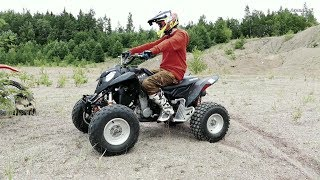 9. Polaris Outlaw 525ccm IRS -07 New Test Ride | No Music | Raw Sound