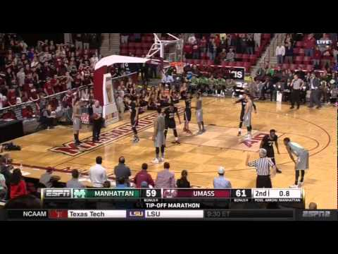 A dunk to tie by Manhattan against UMass