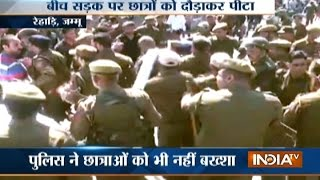 Police resort to lathi charge as students protest over paper pattern in Jammu & Kashmir