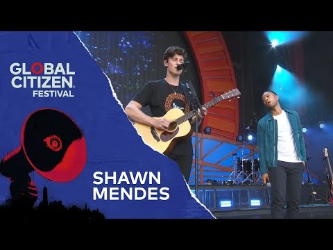 Shawn Mendes Performs Youth with John Legend | Global Citizen Festival NYC 2018