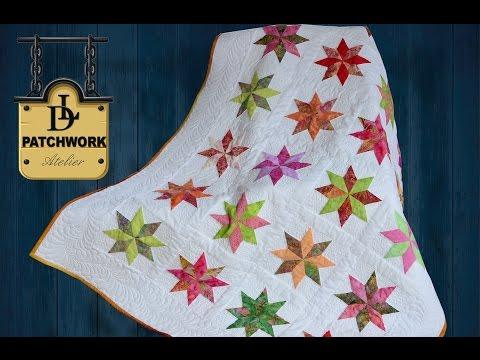 patchwork – coperta con motivo stellato
