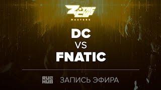 DC vs Fnatic, ZOTAC Masters Finals, game 1 [Maelstorm, LightOfHeaven]