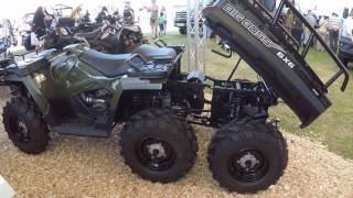 7. POLARIS SPORTSMAN 570 BIG BOSS 6X6 AWD QUAD ATV TRACTOR PICK-UP  ! MODEL 2017 ! WALKAROUND !