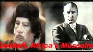 Africa's Mussolini = Libyan GADDAFI - ETHIOPIA V Fascism In The Horn Of AFRICA Then&NWO