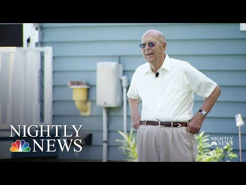 94-Year-Old Puts In Pool For Neighborhood Kids | NBC Nightly News