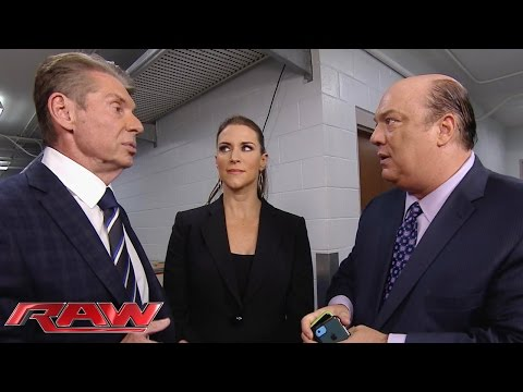 The McMahon family negotiates with Paul Heyman: Raw, January 11, 2016