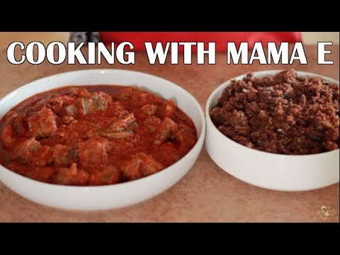COOKING WITH MAMA E| WAAKYE & GOAT STEW #TWICOOKINGCHALLENGE