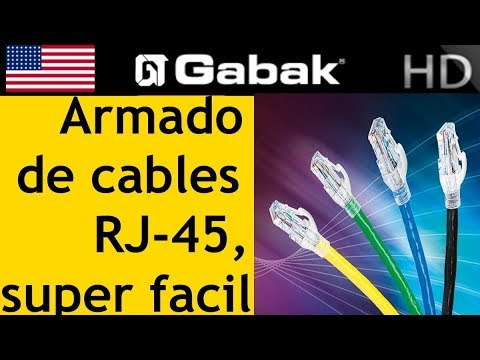 Como armar patch cord super facil con super fichas RJ45