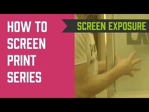 How to Screen Print Series - Screen Exposure