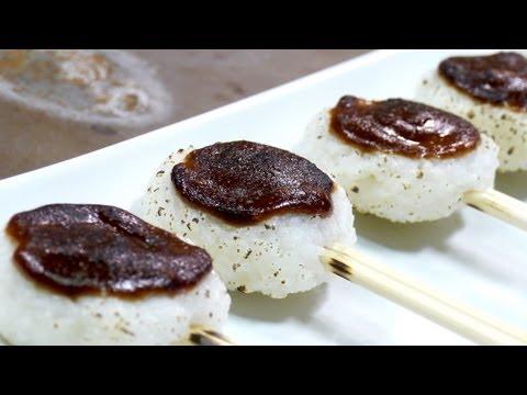 Miso Rice Cake Pops!? (Gohei-mochi) Recipe 五平餅 赤味噌 甘味噌