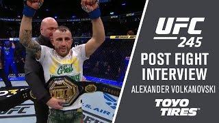 UFC 245:  Alexander Volkanovski - It Was A Bit Of A Chess Match by UFC