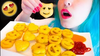 ASMR: Emoji Smiley Potato Fries | Crunchy & Yummy ~ Relaxing Eating Sounds [No Talking|V] 😻