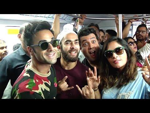 Video Fukrey Returns FUNNY Moments Inside Mumbai Metro Train| Pulkit Samrat, Richa Chadda, Varun Sharma download in MP3, 3GP, MP4, WEBM, AVI, FLV January 2017