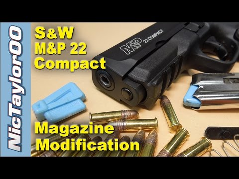Smith & Wesson M&P22 COMPACT High Capacity Magazine Modification