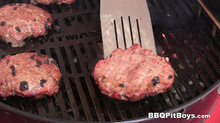 Superbowl Strip Steak Burgers by the BBQ Pit Boys by BBQ Pit Boys