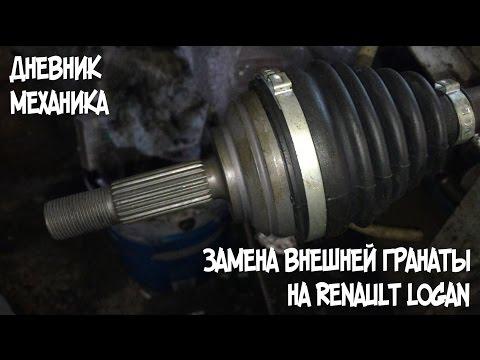 Замена гранат на рено логан