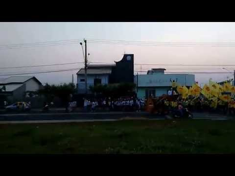 Passeata eleitoral: Confira parte da passeata em Ouroeste