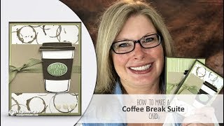 """Free pdf and details: http://stampwithtami.com/blog/2017/06/stampin-up-coffee-cafe/Live Broadcasts on Facebook: https://www.facebook.com/stampwithtami1On of the most popular suites in the new Stampin Up catalog, is this Stampin Up Coffee Break Suite. I will be live on my Facebook page at noon today creating this fun card. I lovingly refer to it as the Starbucks set lol. I'll show you the fun designer paper up close, and the stamp set and die set that match it. If you miss the live broadcast, you can catch the replay below (or on my Facebook & Youtube).We'll be creating this fun """"thanks a latte"""" card. Featuring the Coffee Cafe stamp set, the Coffee Cups dies, Coffee break DSP and the matching Coffee Break card stock. Download the free pdf below, for measurements and the supplies list.Coffee Café Photopolymer Bundle [145331] - Price: $45.75 - http://msb.im/4vKCoffee Café Photopolymer Stamp Set [143677] - Price: $21.00 - http://msb.im/4vLCoffee Cups Framelits Dies [143745] - Price: $30.00 - http://msb.im/4vMCoffee Break Designer Series Paper [144155] - Price: $11.00 - http://msb.im/4vNCoffee Break 8-1/2"""" X 11"""" Cardstock Pack [144156] - Price: $8.00 - http://msb.im/4vOPear Pizzazz 8-1/2"""" X 11"""" Cardstock [131201] - Price: $8.00 - http://msb.im/4vPEarly Espresso 8-1/2"""" X 11"""" Cardstock [119686] - Price: $8.00 - http://msb.im/4vQCrumb Cake 8-1/2"""" X 11"""" Cardstock [120953] - Price: $8.00 - http://msb.im/4vRGarden Green Classic Stampin' Pad [126973] - Price: $6.50 - http://msb.im/4vSEarly Espresso Classic Stampin' Pad [126974] - Price: $6.50 - http://msb.im/4vTBasic Gray Classic Stampin' Pad [126981] - Price: $5.95 - http://msb.im/4vUWhisper White 8-1/2"""" X 11"""" Cardstock [100730] - Price: $9.00 - http://msb.im/4vVOld Olive 3/8"""" Mini Chevron Ribbon [144196] - Price: $7.00 - http://msb.im/4vWWhite Perfect Accents [138416] - Price: $5.00 - http://msb.im/4vXClear Wink Of Stella Glitter Brush [141897] - Price: $8.00 - http://msb.im/4vYStampin' Dimensionals [104430] - Price: $4.00 - """