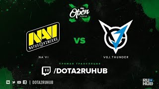 Na`Vi vs VGJ.Thunder, PGL Open Bucharest, game 2 [Lum1Sit, 4ce]