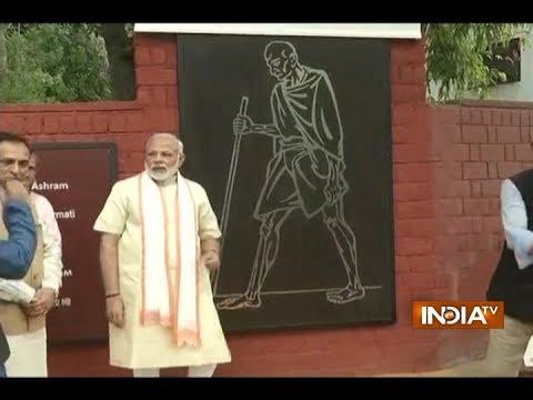 PM Modi visits Sabarmati Ashram in Ahmedabad