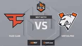 [RU] FaZe vs Virtus.pro | Map 3 – Mirage | ECS Season 7 Europe