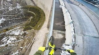 Would You Ride Your Bike on a Railing 656 Feet Above the Ground?!