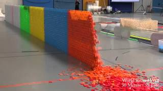 Video 128,000 Dominoes   Falling into past   a journey around the world 2 Guinness World Records)   YouTub MP3, 3GP, MP4, WEBM, AVI, FLV September 2018