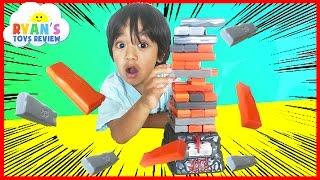 Family Fun Game for Kids Jenga Quake Egg Surprise Toys