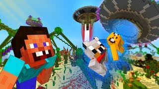 STEVE Finds ALIEN GOLD - MINECRAFT STEVE AND BABY ZOMBIE [35]