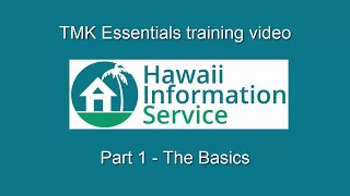 TMK Essentials (Part 1) - The Basics