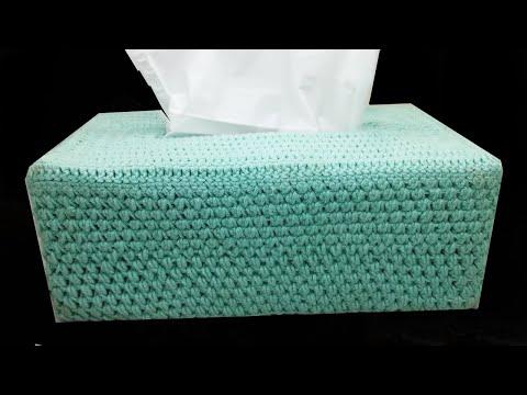 How To Crochet Tissue Box Cover|| by shaizas crochet