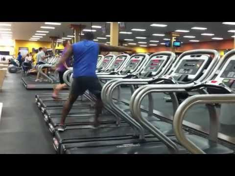 Dancing on a treadmill!