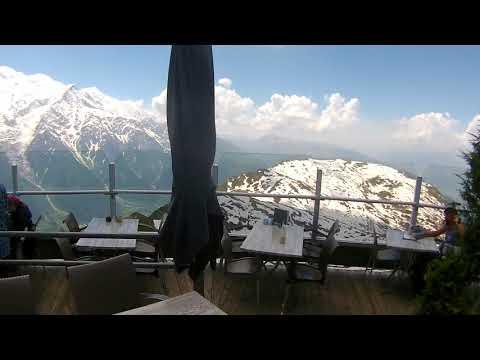 Restaurante panorâmico com a vista espetacular do Monte Le Brévent