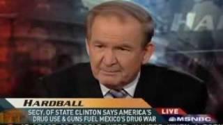 Pat Buchanan Wants U.S. Snipers Killing People Crossing Border 3-26-09