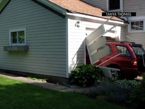 Дед на 91м году реализовал мечту врезаться в гараж