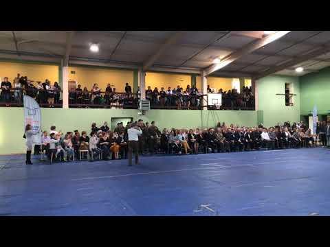Wideo: Prezentacja klas mundurowych podczas ślubowanie pierwszych klas w III LO w Lubinie