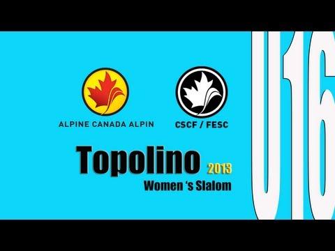 Women's Slalom Race U16 Topolino 2013