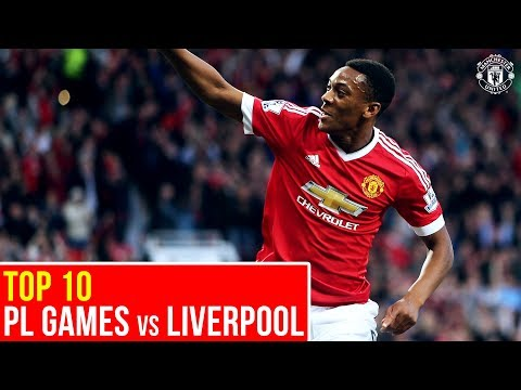 Top Ten Manchester United PL Matches V Liverpool | Premier League