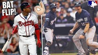 Ronald Acuna Jr BAT FLIP of The Year? Brewers SWEEP Rockies, ALDS & NLDS Predictions! MLB Recap