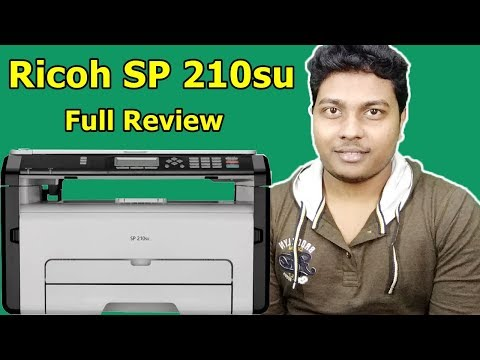 Ricoh SP 210su Laser Printer from AMAZON   Print Test, Xerox Test, Scan Test, Review   TechnoSajid