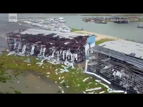 Drone footage shows Harvey's destruction