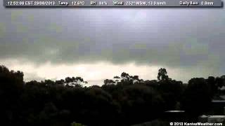 23 August 2013 - North Facing WeatherCam Timelapse - KanivaWeather.com