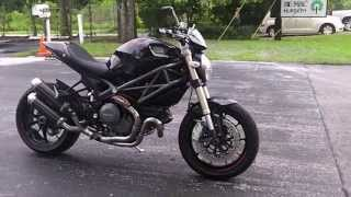 10. Used 2012 Ducati Monster 1100 EVO Black at Euro Cycles of Tampa Bay