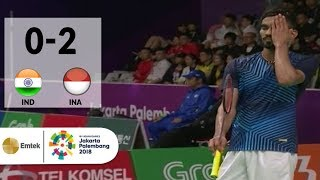 Video IDN vs INA - Badminton Beregu Putra: Srikanth Nammalwar vs Anthony Sinisuka | Asian Games 2018 MP3, 3GP, MP4, WEBM, AVI, FLV Agustus 2018