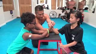 Video Kung Fu Kids - Strongest Arm Wrestler Challenge MP3, 3GP, MP4, WEBM, AVI, FLV Januari 2019